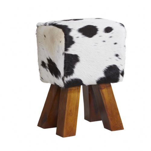 Black and White Footstool